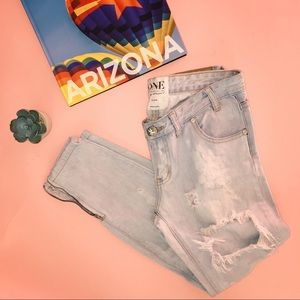 One Teaspoon 'Trashed Free Birds' Distressed Jeans